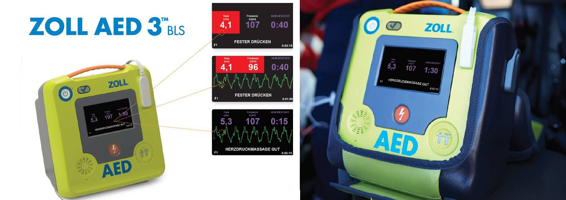 AED 3 BLS - Echtzeit-CPR-Feedback durch Real CPR Help ®